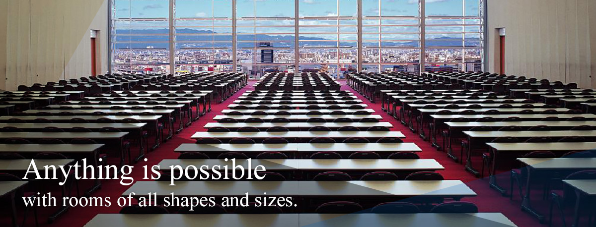 Anything is possible with rooms of all shapes and sizes.