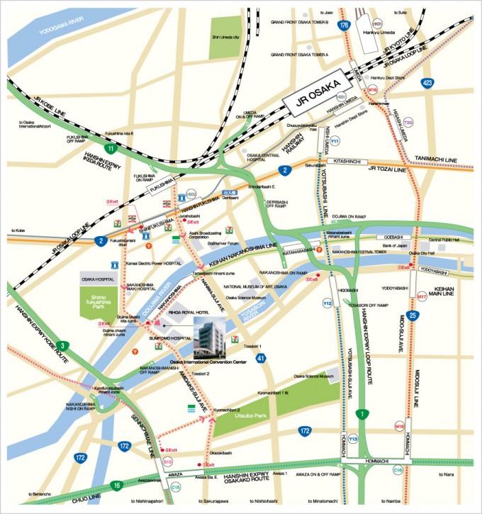 map of surrounding areas osaka international convention center